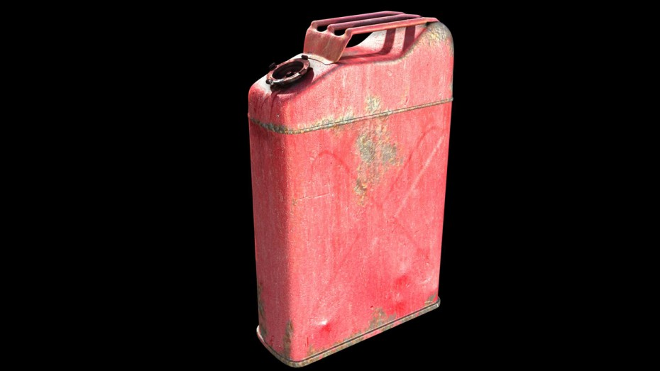 Gas Canister 3D Model thumbnail